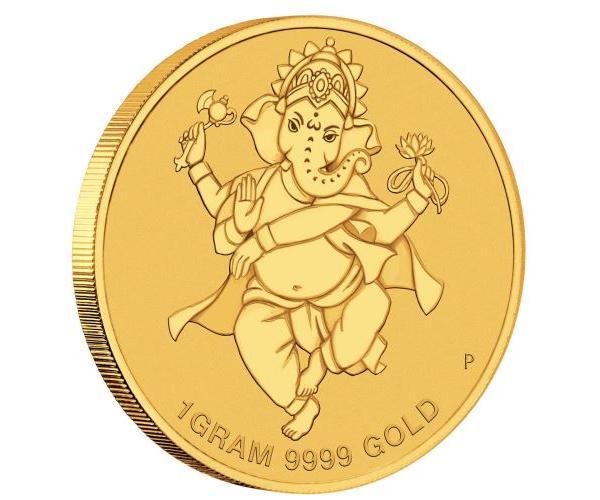 1 Gram Gold Diwali Festival Coin 999.9 image
