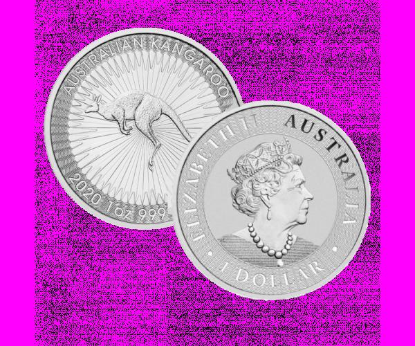 1 Oz Silver Australian Kangaroo (2020) image