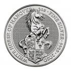 2 Ounce Queen's Beasts White Horse Of Hanover (2020) Silver Coin .999