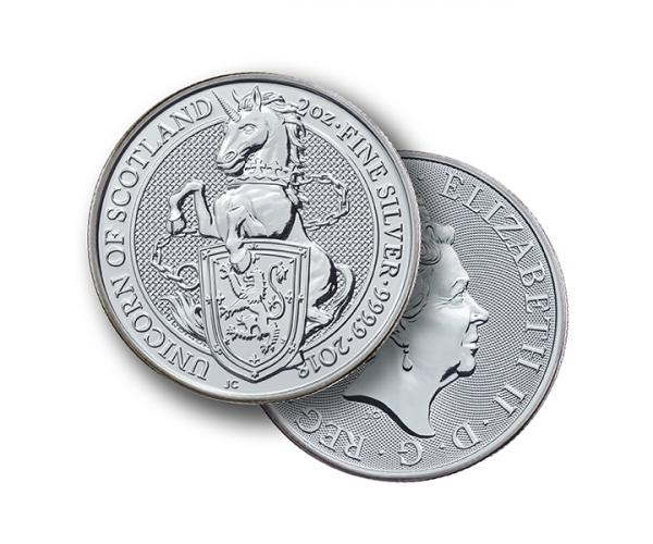 2 Ounce The Queen's Beast Unicorn Silver Coin .999 image