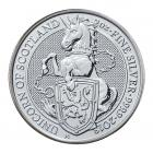 2 Ounce Queen's Beast Unicorn Of Scotland (2018) Silver Coin .999