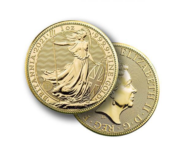 1 Ounce Gold Britannia Coin (2021 ) 999.9 CGT Free* image