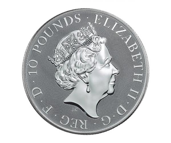 10 Ounce The Queen's Beast Griffin Silver Coin .999 image