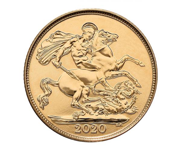 22ct 4 Gram Half Gold Sovereign Coin (2020) CGT Free* image