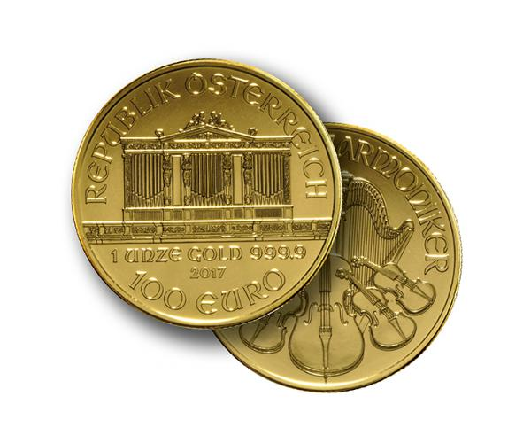 1 Ounce Austrian Gold Philharmonic (Mixed Years) 999.9 image