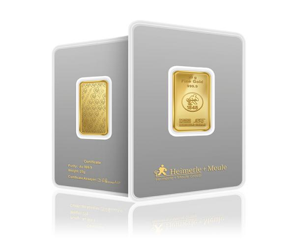 20 Gram Heimerle + Meule Investment Gold Bar .9999 image