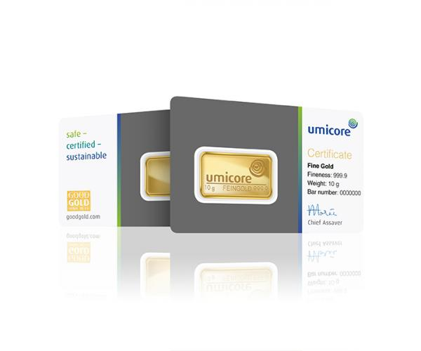 10 Gram Umicore Investment Gold Bar (999.9) image