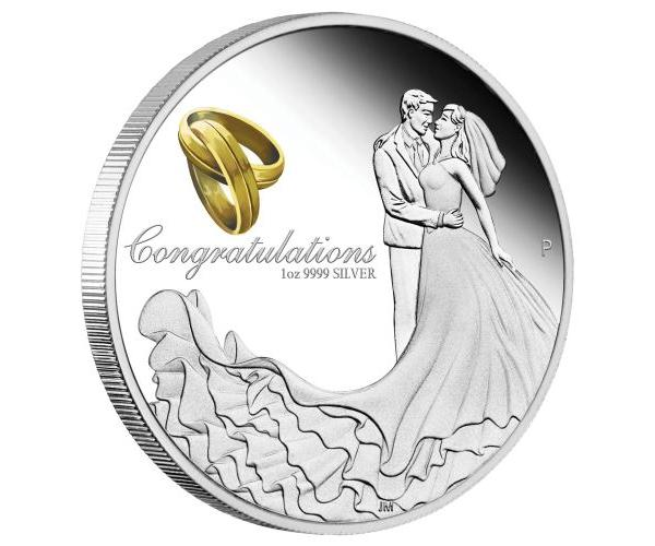 1 Ounce Happy Wedding Silver Box Set image