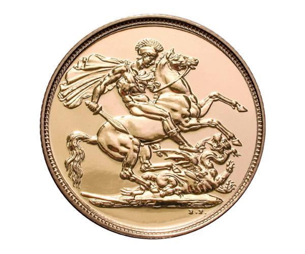 Gold Sovereign (8g) (Elizabeth II, 4th Head) CGT Free image