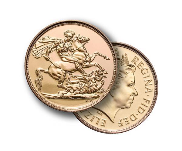 22ct 8 Gram Full Sovereign Coin (Elizabeth II, Fourth Head) image