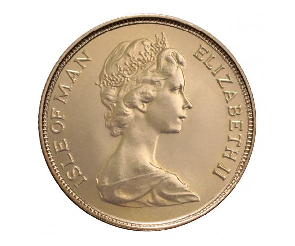 22ct 8 Gram Gold Sovereign Coin (Isle Of Man) (CGT Free) image