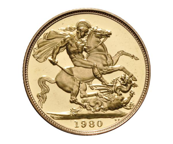 22ct 8 Gram Full Gold Sovereign (1980 Grade B) CGT Free image