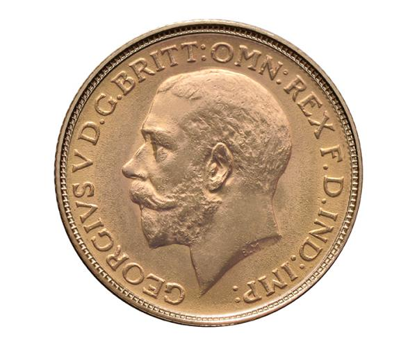 22ct 8 Gram Full Gold Sovereign Coin ( King George V) CGT Free image