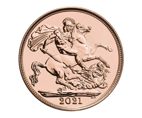 Gold Sovereign (8g) (2021) Fifth Head CGT Free* image