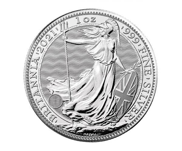 1 Ounce Silver Britannia Coin (2021 ) .999 image