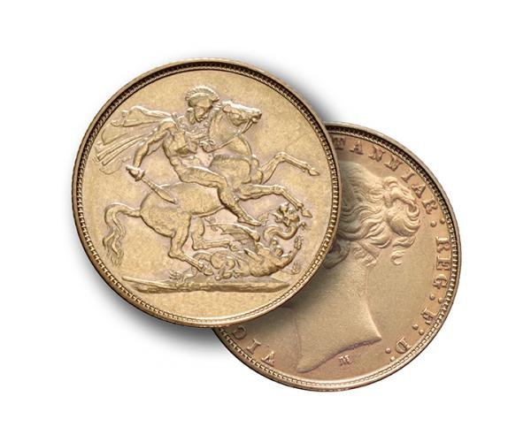 Gold Sovereign (8g) (Victoria Young Head) CGT Free* image