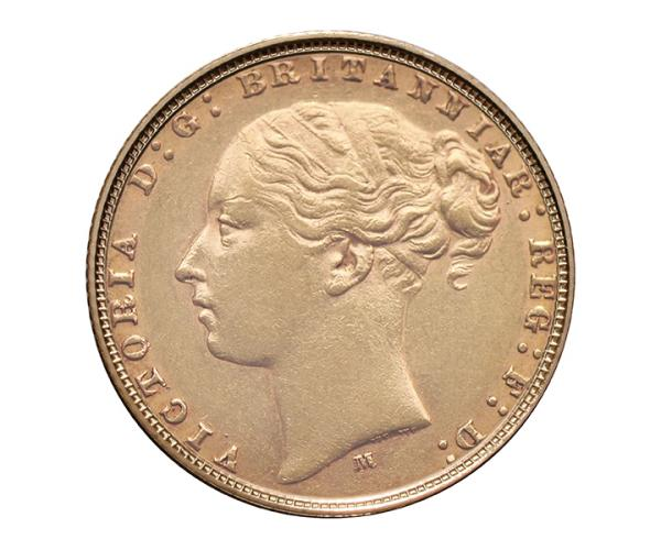 22ct 8 Gram Full Gold Sovereign Coin (Victoria Young Head) CGT Free* image