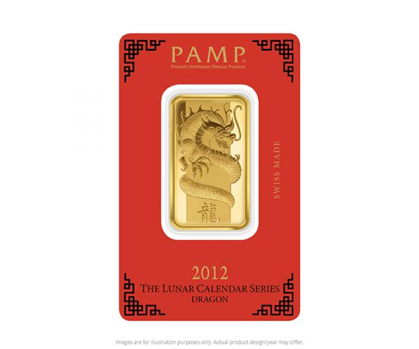1 Ounce 2019 PAMP Year of the Dragon Gold Bar image