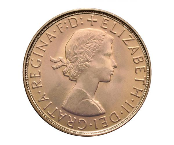 (8g) Gold Sovereign Coin (Elizabeth II Young Head) image