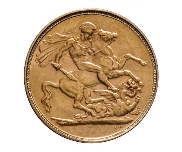 Half Gold Sovereign (4g) (King Edward) CGT Free image