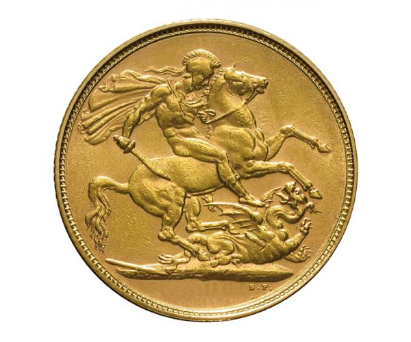 8g Gold Sovereign Coin (Victoria Old Head) image