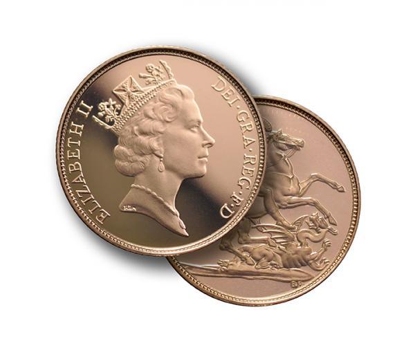 Gold Sovereign (8g) (Elizabeth II, 3rd Head) CGT Free image