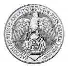 2 Oz Silver Queen's Beast Falcon Of The Plantagenets (2019)