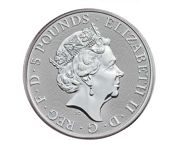 2 Ounce Silver Queen's Beast Falcon Of The Plantagenets (2019) image