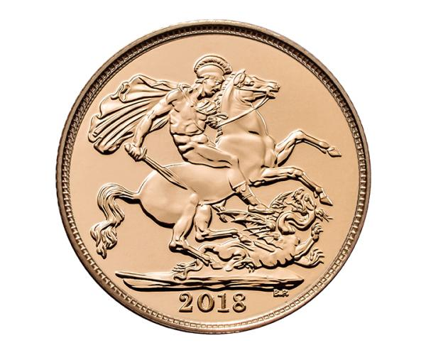 22ct 4 Gram Half Gold Sovereign Coin (2018) CGT Free image
