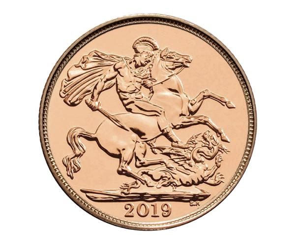 22ct 4 Gram Half Gold Sovereign Coin (2019) CGT Free* image
