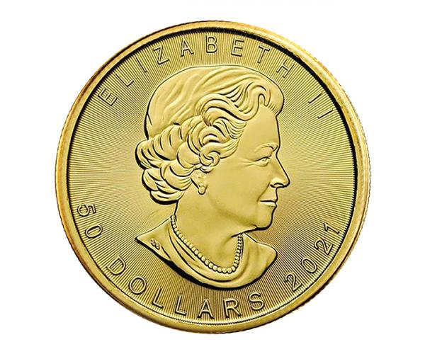 1oz Gold Maple Leaf Coin (2021) 999.9 image