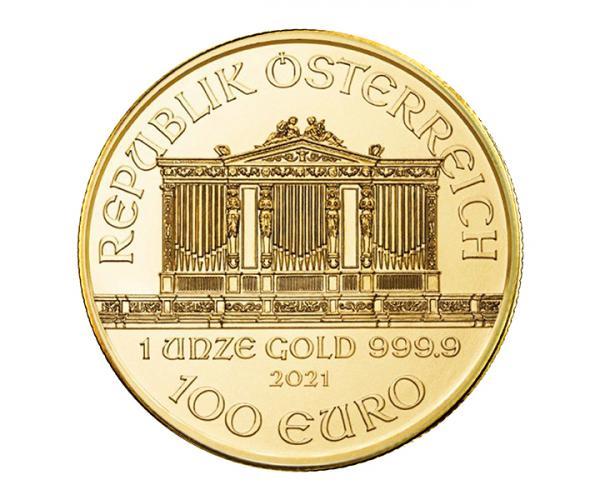 1 Oz Austrian Gold Philharmonic (2021) image