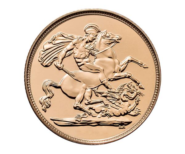 Half Gold Sovereign (4g) (Elizabeth II, Fifth Head) CGT Free image