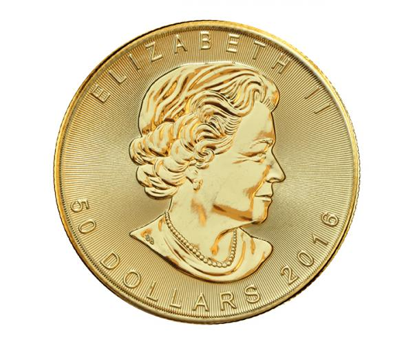 Tenth Ounce Maple Leaf Gold Coin image