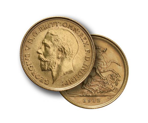 22ct 4 Gram Half Gold Sovereign Coin (King George V) CGT Free image