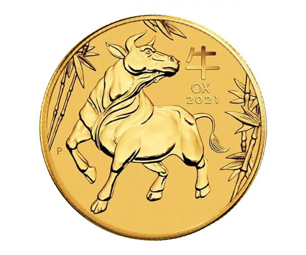 1 Ounce Year Of The Ox Gold Coin (2021) image
