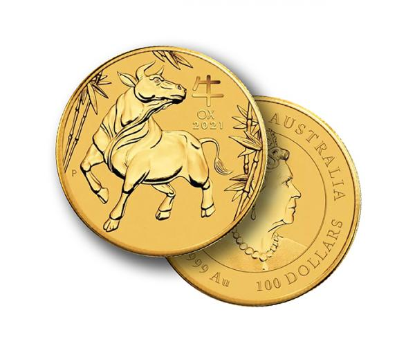 1 Oz Year Of The Ox Gold Coin (2021) image