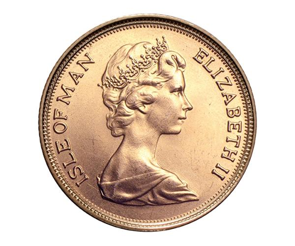 22ct 4 Gram Half Gold Sovereign Coin (Isle Of Man) CGT Free* image