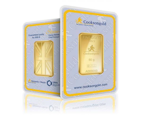 50 Gram Heimerle + Meule Investment Gold Bar 999.9 image