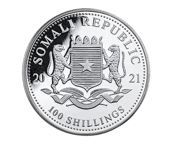 1 Ounce Silver Somali Elephant Coin (2021) image