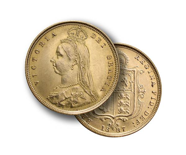 22ct 4 Gram Half Gold Sovereign Coin (Victoria, Jubilee Head) CGT Free* image