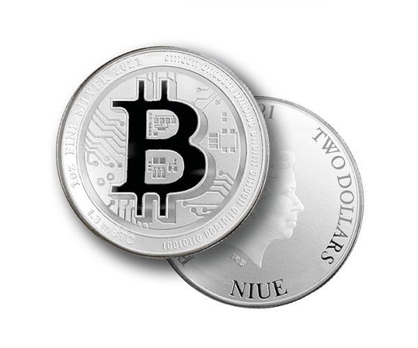 1 Ounce Silver Bitcoin (2021) image