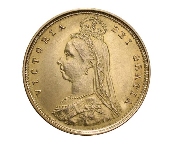 Half Gold Sovereign (4g) (Victoria, Jubilee Head) CGT Free* image