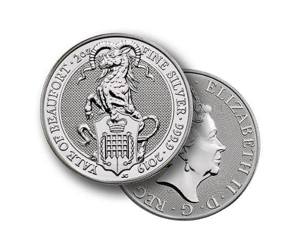 2 Ounce Silver Queen's Beast Yale Of Beaufort (2019) image