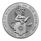 2 Ounce Silver Queen's Beast White Lion Of Mortimer (2020)