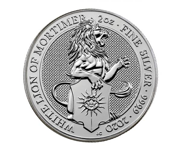 2 Ounce Silver Queen's Beast White Lion Of Mortimer (2020) image